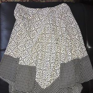 Sz 14 Banana Republic Lined Handkerchief Hem Skirt